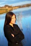 Mulher nova ao ar livre Imagem de Stock
