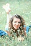 Mulher nova ao ar livre Imagens de Stock Royalty Free