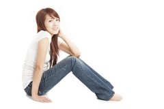 mulher nova asiática bonita Foto de Stock Royalty Free