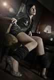 Mulher nova atrativa Foto de Stock Royalty Free