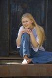 Mulher nova atrativa Fotos de Stock Royalty Free