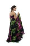 Mulher nova atrativa no vestido preto Imagem de Stock Royalty Free