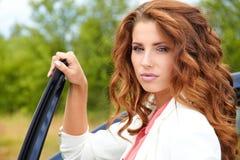 Mulher nova bem sucedida Fotos de Stock