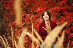 Mulher nova bonita Autumn Portrait Imagem de Stock