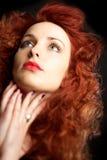 Mulher nova bonita com cabelo vermelho Foto de Stock