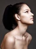 Mulher nova bonita com composição fresca natural Fotografia de Stock Royalty Free