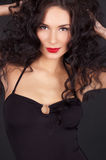 Mulher nova bonita com corpo 'sexy' perfeito Fotografia de Stock Royalty Free