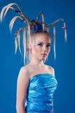 Mulher nova bonita com face-arte Fotografia de Stock Royalty Free