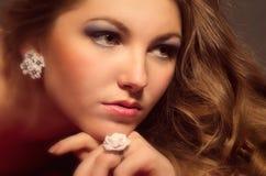 Mulher nova bonita de Portait Imagens de Stock