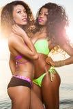 Mulher nova bonita do americano africano Fotos de Stock