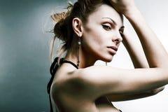 Mulher nova bonita do retrato Imagem de Stock Royalty Free
