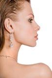 Mulher nova bonita do retrato Fotografia de Stock Royalty Free