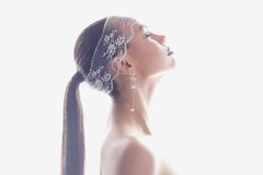 Mulher nova bonita hairstyle Imagens de Stock