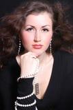 Mulher nova bonita na jóia Imagem de Stock Royalty Free