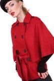 Mulher nova bonita na roupa vermelha Fotografia de Stock Royalty Free