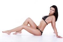 Mulher nova bonita no swimwear Fotografia de Stock Royalty Free