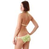 Mulher nova bonita no swimwear Foto de Stock Royalty Free