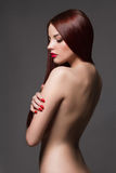 Mulher nova bonita nu Imagens de Stock Royalty Free