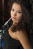 Mulher nova Charming fotografia de stock royalty free