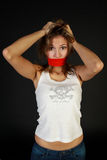 Mulher nova choc Foto de Stock Royalty Free