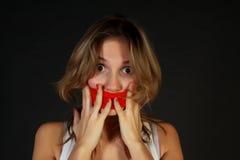 Mulher nova choc Fotos de Stock