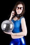 Mulher nova com auscultadores (7) Imagem de Stock Royalty Free