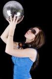 Mulher nova com auscultadores (8) Foto de Stock