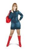 Mulher nova com bolsa Imagem de Stock Royalty Free
