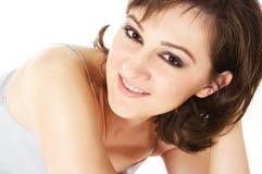 Mulher nova com cabelo curly Imagens de Stock Royalty Free