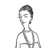 Mulher nova com grânulos ilustração do vetor