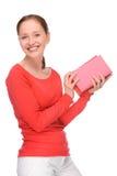 Mulher nova com livros fotos de stock