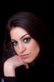 Mulher nova com olhos maravilhosos Fotos de Stock Royalty Free