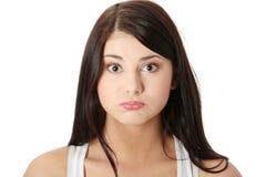 Mulher nova com soluço Imagens de Stock