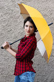 Mulher nova com um guarda-chuva Foto de Stock
