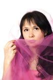 Mulher nova com véu Imagens de Stock Royalty Free