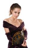 Mulher nova com ventilador Imagem de Stock Royalty Free