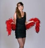 Mulher nova como um flapper. Fotografia de Stock Royalty Free