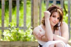 Mulher nova confiável Foto de Stock Royalty Free