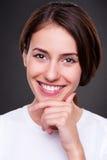 Mulher nova contente Imagens de Stock