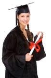 Mulher nova da graduação foto de stock