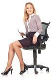 Mulher nova da secretária do negócio foto de stock royalty free