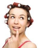 A mulher nova daydreaming Imagem de Stock