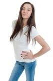 Mulher nova de cabelos compridos Fotografia de Stock Royalty Free