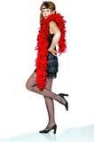 Mulher nova de Iimage vestida como um flapper Imagem de Stock Royalty Free