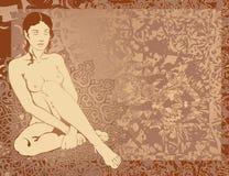 Mulher nova de India ilustração stock