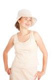 Mulher nova de riso Fotografia de Stock Royalty Free