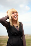 Mulher nova de sorriso Imagens de Stock