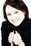 Mulher nova de sorriso Fotografia de Stock