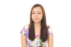 Mulher nova de sorriso Imagens de Stock Royalty Free