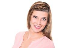 Mulher nova de sorriso imagem de stock royalty free